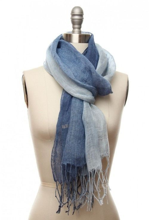 A SCARF completes any outfit (25 photos)