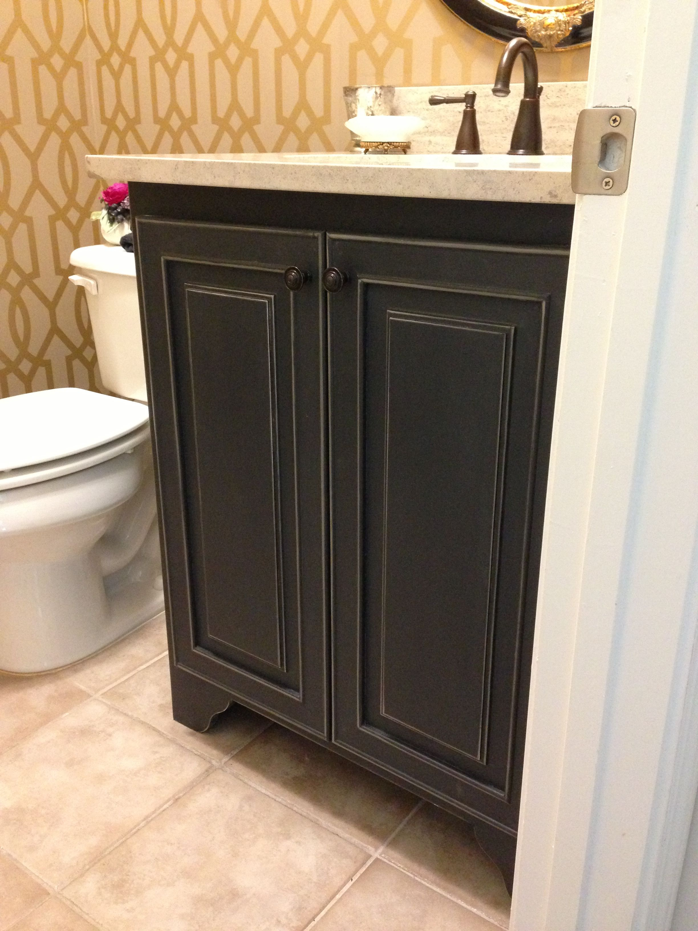 We Replaced A Plain Porcelain Pedestal Sink With This