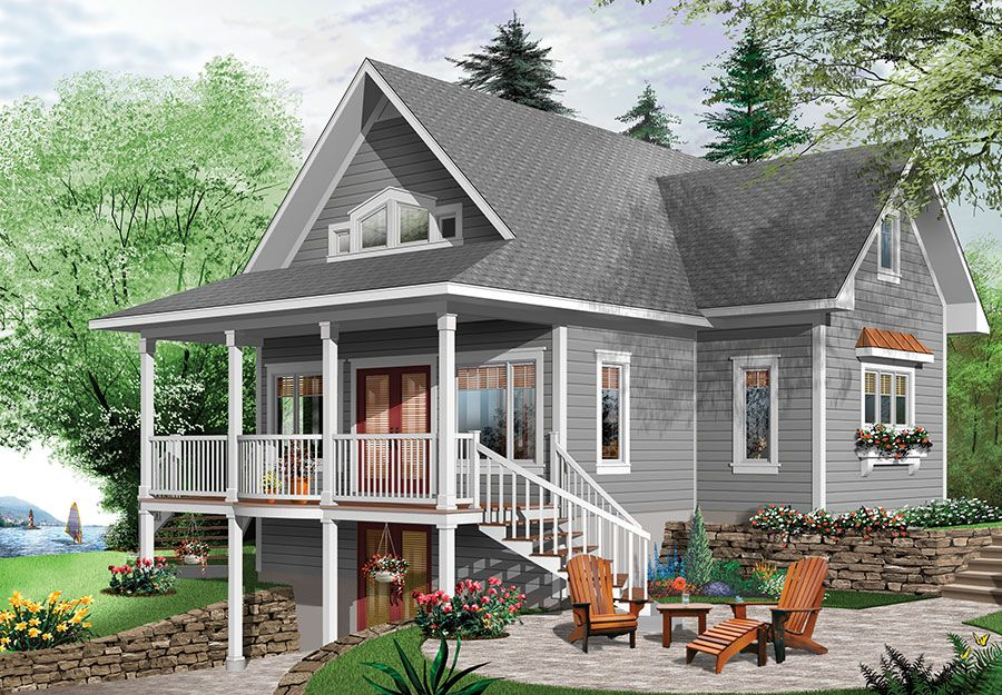 Charming Country Cottage 22407DR Architectural