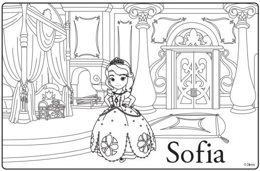 disney jr princess coloring pages | Sofia The First Premiere Party Ideas & Coloring Sheets ...