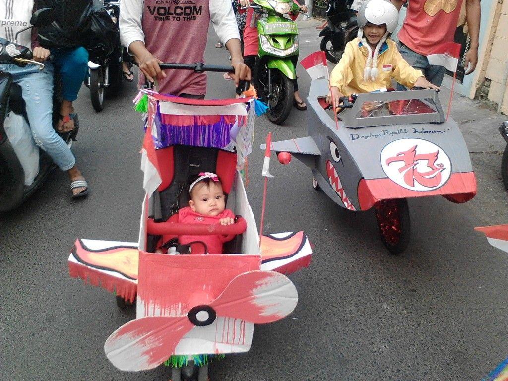Stroller hias HARI KEMERDEKAAN REPUBLIK INDONESIA Hiasan