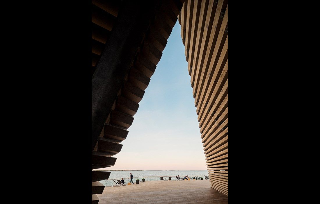 Löyly – seafront sauna in Helsinki, Finland by Avanto Architects, photo Kuvio.com #architecture in #wood