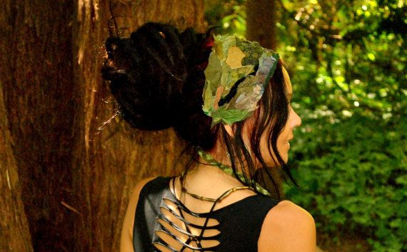 Hippie Headband MOSS GODDESS Sacred by IntergalacticApparel