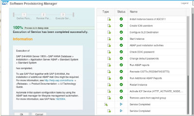 SAP S/4 HANA 1809 complete Installation on SUSE Linux with
