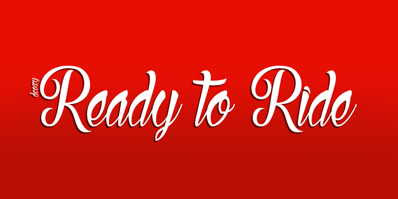 Ready to Ride Font Riding, Neon signs, Fonts