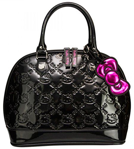 Loungefly Hello Kitty Black Shiny Patent Embossed Tote Bag  fa2556e2ca627