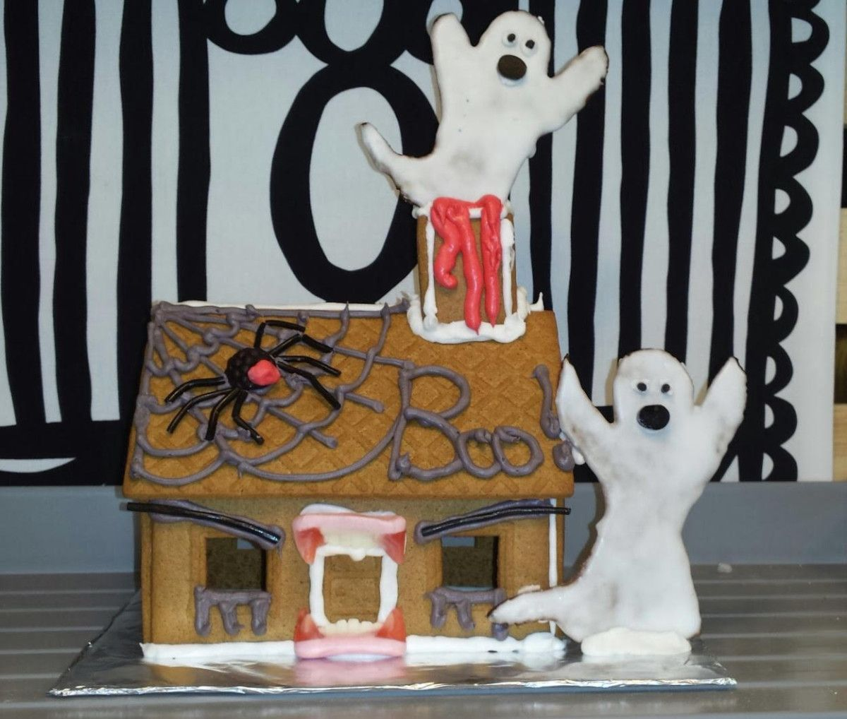 Make a haunted house from IKEA\u0027s gingerbread house #halloween - halloween houses decorated