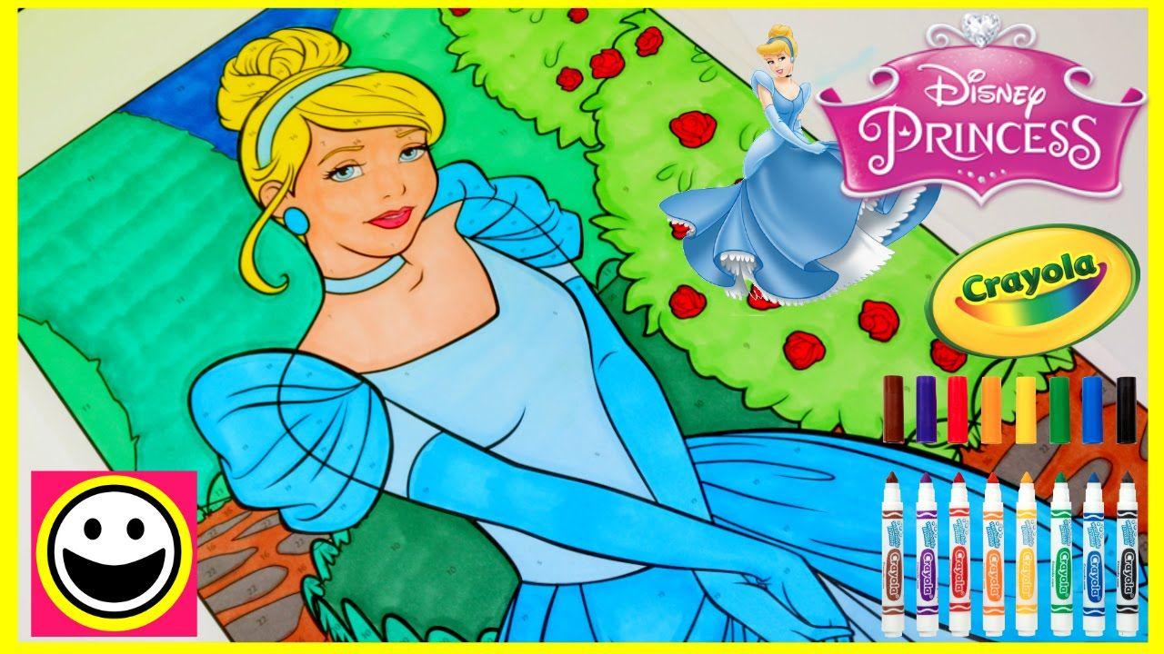 Princess CINDERELLA - Crayola GIANT COLOR BY NUMBER - Disney ...