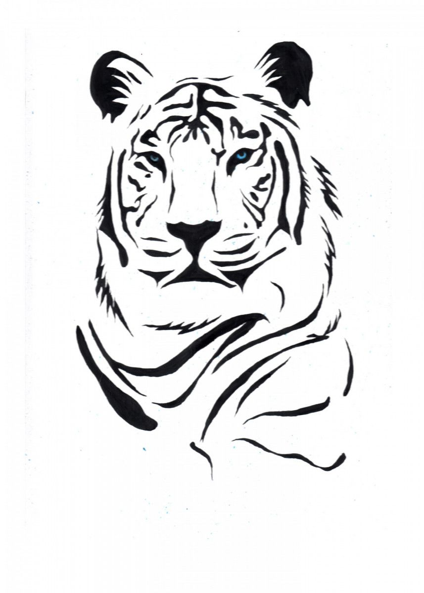 pop art A polar tiger inspired by | Displate thumbnail