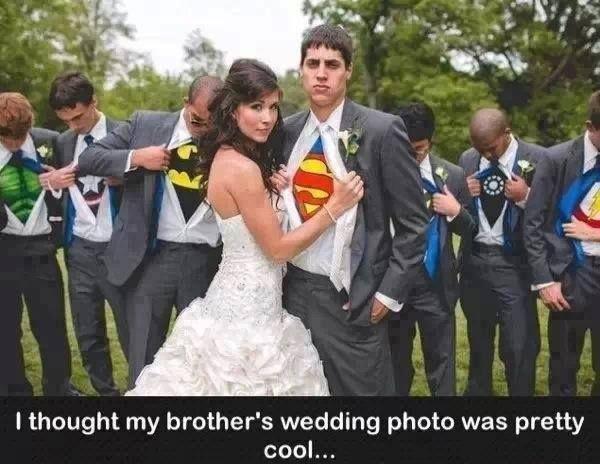 Cool Wedding Photos Batman Comics Funny Hulk Marriage Superman