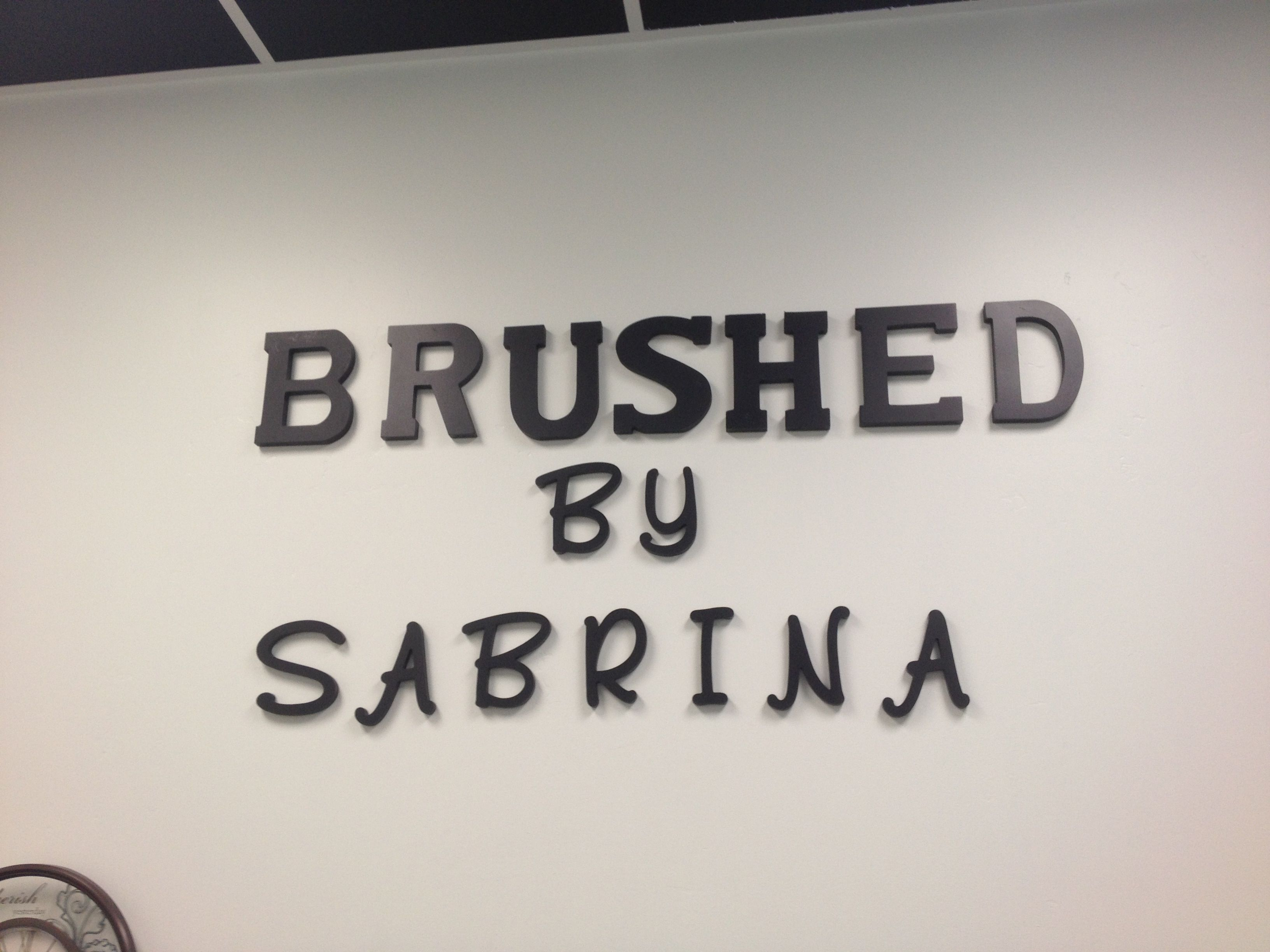 My Salon Name On Wall Brushedby Sabrina 619 787 5161 Wiring Car Audio Promotionshop For Promotional