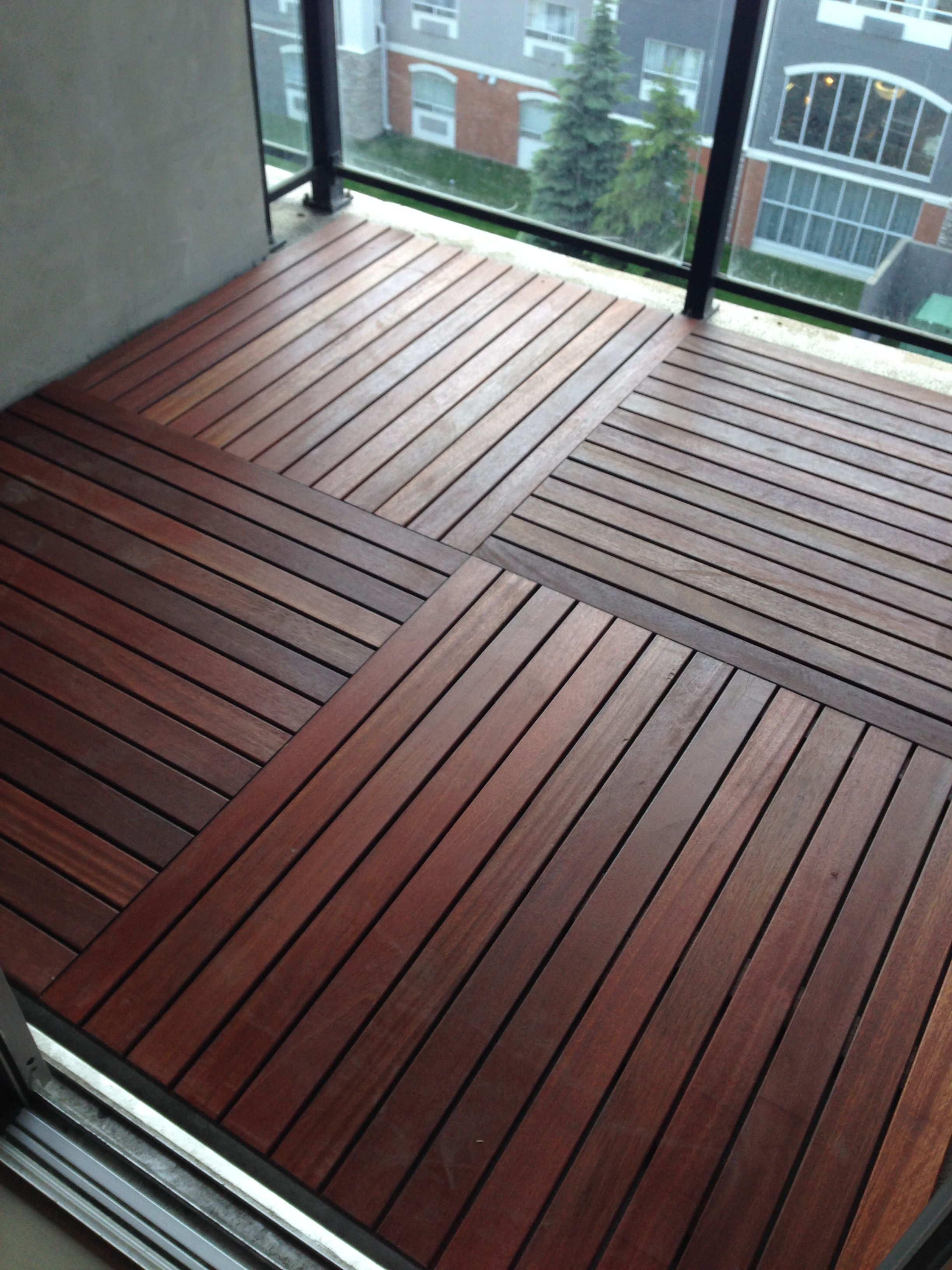 Easy To Install Red Balau Batu Garden Deck Tiles Approximately