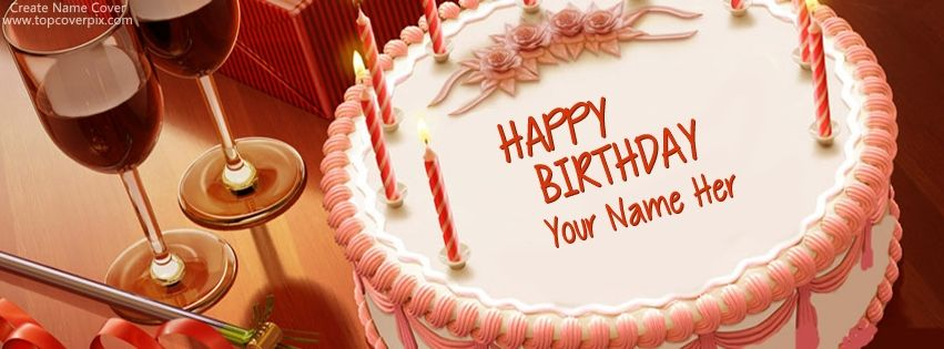 Create Your Own Name Cover Free For Facebook Timeline On Birthday Cake Style