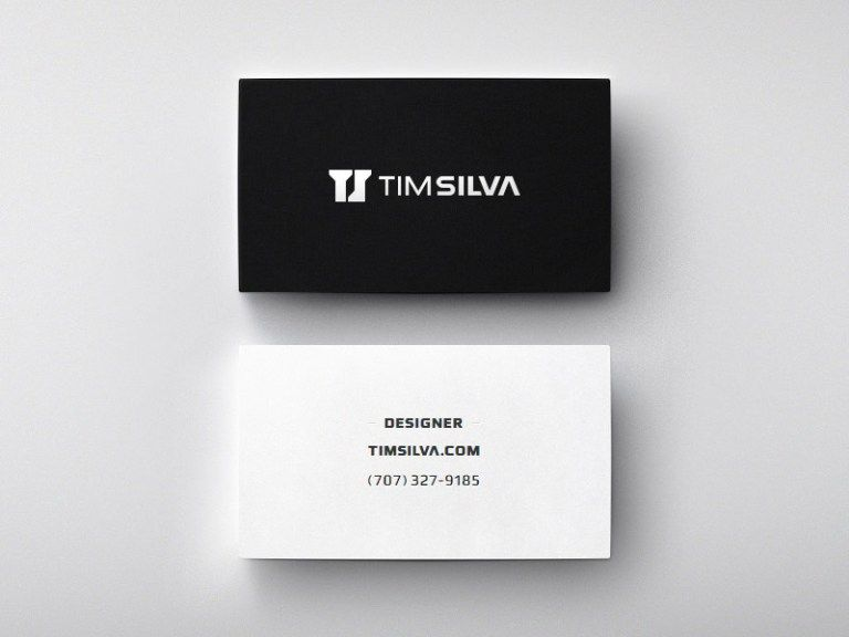 Download simple business card psd template simple