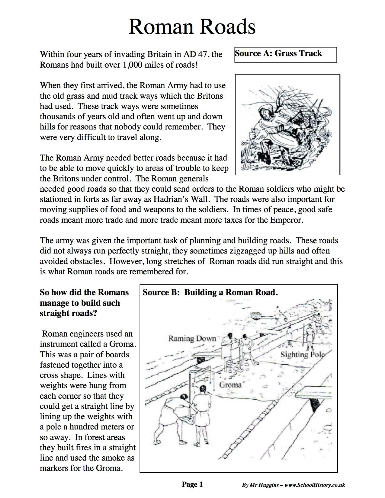 Pictures Roman Empire Worksheet
