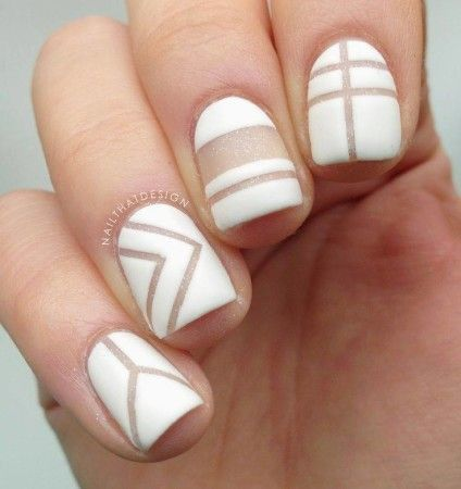40 Simple Nail Designs for Short Nails without Nail Art Tools - Pepino Nail  Art - 40 Simple Nail Designs For Short Nails Without Nail Art Tools