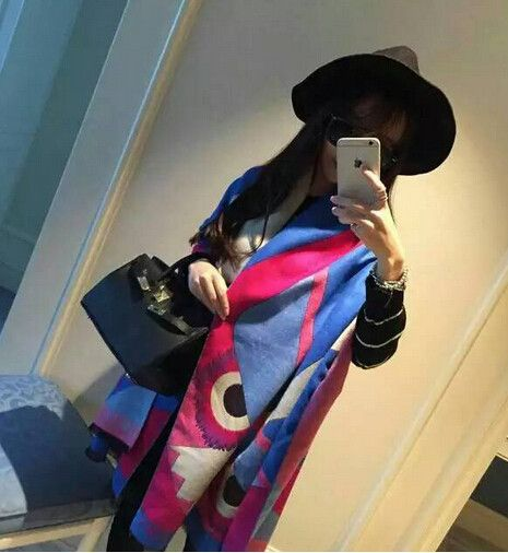 High Quality Best Price Women Fashion Eyes Thickened Cashmere Wool Scarves Lady's Winter Poncho Cape Warm Shwals (190*65CM)-in Scarves from Women's Clothing & Accessories on Aliexpress.com | Alibaba Group