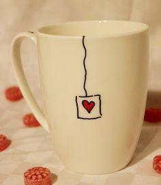 mit Porzellanstiften bemalte Tasse von GrimmskramT... - #bemalte #GrimmskramT #Mit #porcelaine #Porzellanstiften #Tasse #von #tazasceramica