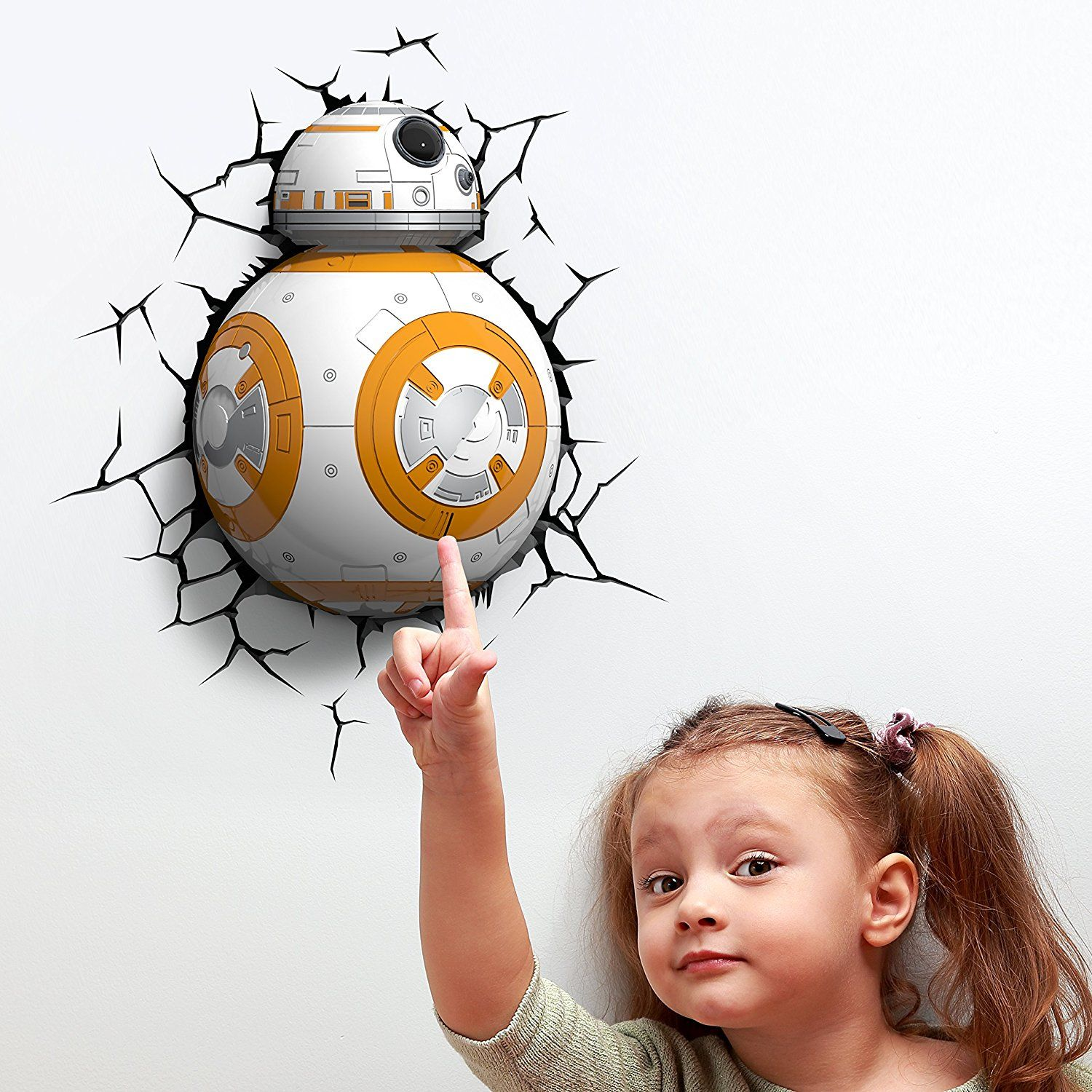 Kinderlampe Led Star Wars Bb 8 Wandlampe 3d Light Fx Led Kinderlampe Nachtlicht