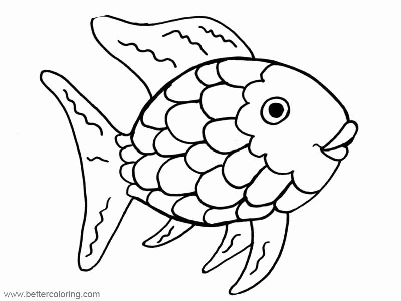 Fish Coloring Pages Printable Unique Rainbow Fish Coloring Pages Free Printable Coloring Pa In 2020 Fish Coloring Page Rainbow Fish Template Rainbow Fish Coloring Page