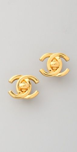 1651a156aa77 pretty simple and vintage. pretty simple and vintage Chanel Stud ...