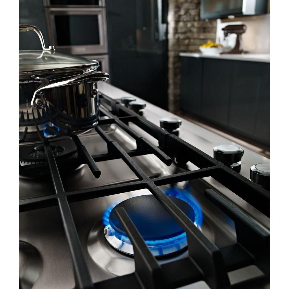 Kitchenaid 30 in gas cooktop in stainless steel with 5