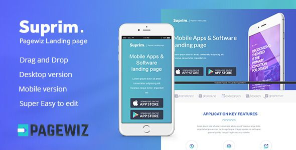 Suprim mobile app landing page for pagewiz mobile app and template suprim mobile app landing page for pagewiz pronofoot35fo Image collections