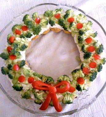 Antipasti Di Verdure Natale.Ghirlanda Di Verdure Antipasti Di Natale Antipasti Di Natale Ricette Di Natale Dolcetti Di Natale