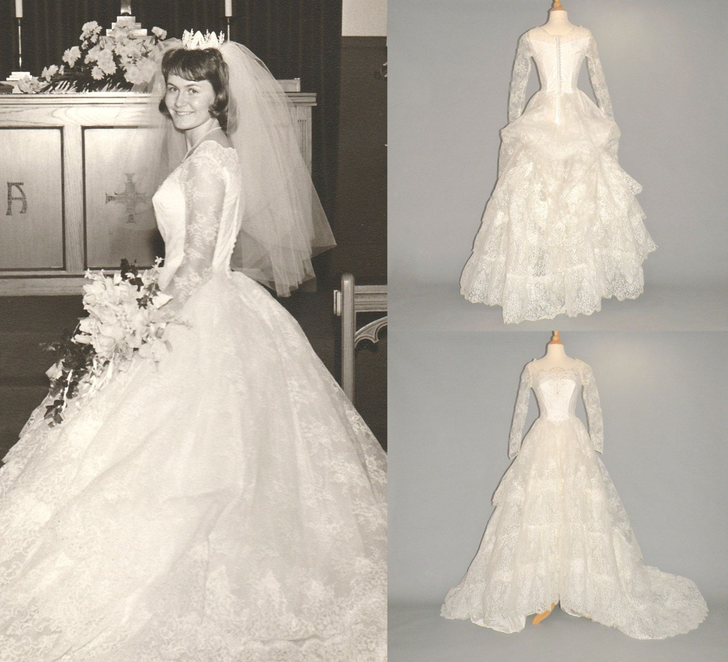 Hold for cristina vintage 1960s wedding dress 60s wedding for 1960 style wedding dresses