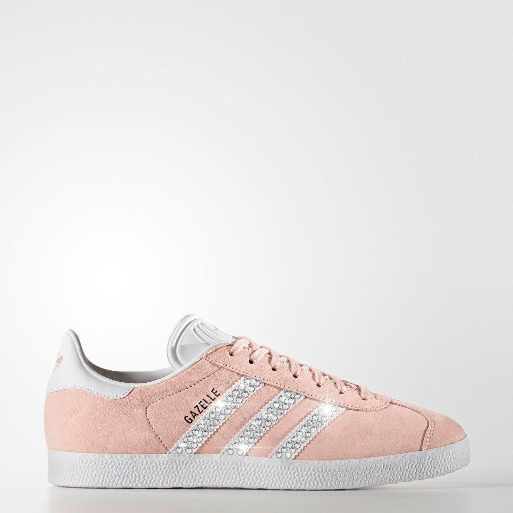 Adidas Vapour Pink Mit Swarovski Steinen Besetzt Glitzerkicks Style Anna Adidas Gazelle Glitzer Schuhe Gazelle Rosa