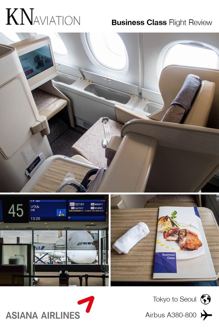 Review Asiana Airlines A380800 Business Class from Tokyo