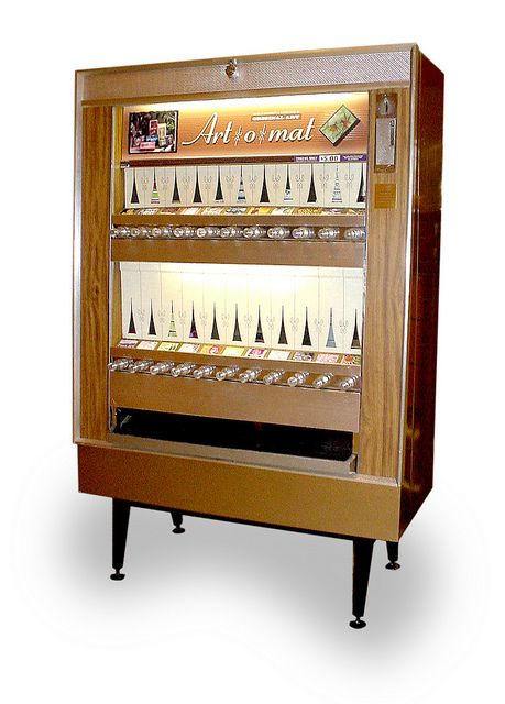 Art-o-mat® machines are retired cigarette vending machines that have been converted to vend art.
