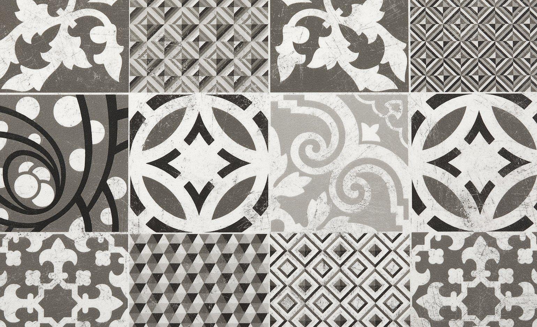 Entretien Carreaux Ciment Anciens sol vinyle booster, décor carreaux ciment blanc et noir