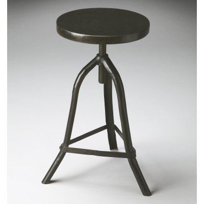 Butler Specialty Revolving Black Metal Adjustable Height Counter Stool    2897025