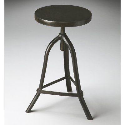 Superb Butler Specialty Revolving Black Metal Adjustable Height Machost Co Dining Chair Design Ideas Machostcouk