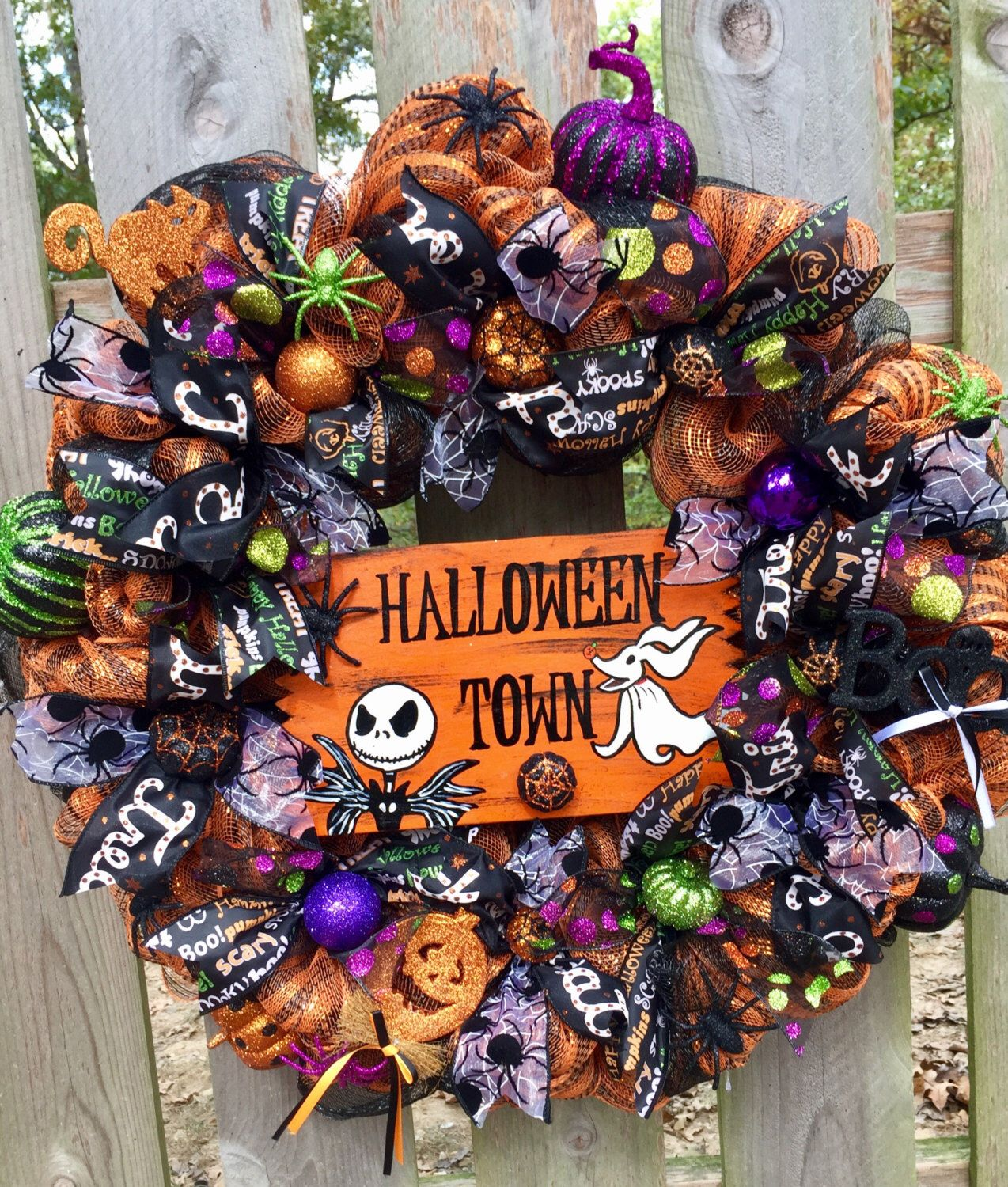 A personal favorite from my Etsy shop   wwwetsy/listing - halloween front door decor