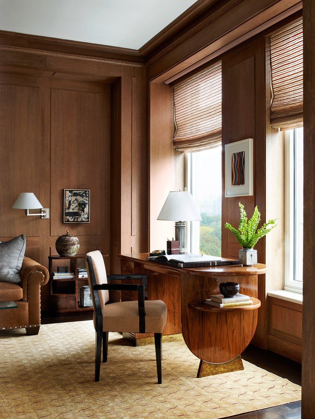 Wood Paneled Den: A New York City Apartment Made Over By David Kleinberg