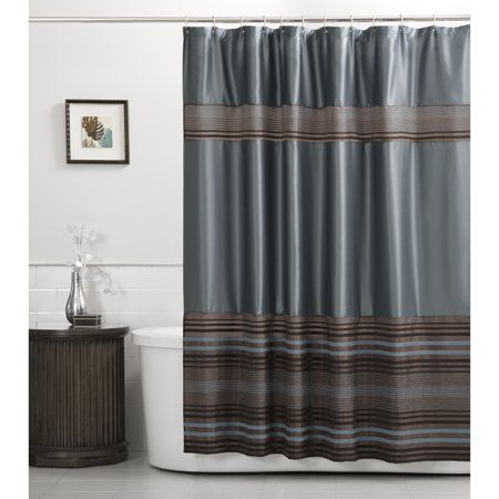 Mark Fabric Blue Shower Curtain Size 70 Inch X 72 Inch In 2020