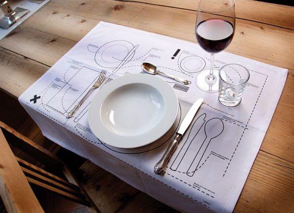Tischunterlage Tischknigge http://www.goodshomedesign.com/kniggerich-placemats-teach-table-etiquette/