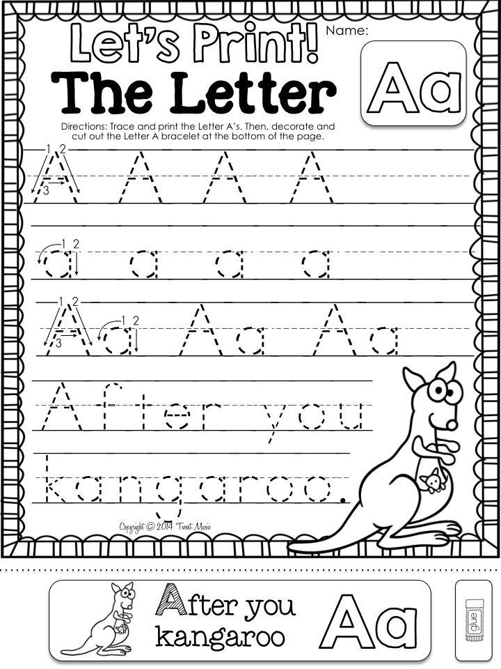 Alphabet A Teaching Writing, Kindergarten Writing, Kindergarten Letters