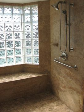 Colored Glass Block Shower | Colored Glass Block Window Design Ideas,  Pictures, Remodel,