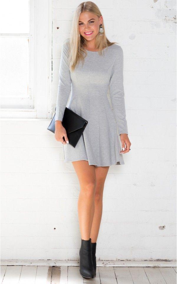 Rug It Dress in Grey | SHOWPO Fashion Online Shopping