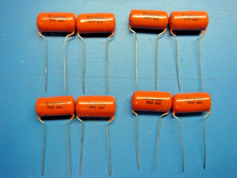 8 Sbe 715p68396l 068uf 600v Radial Orange Drop Capacitor Capacitor Orange Drop