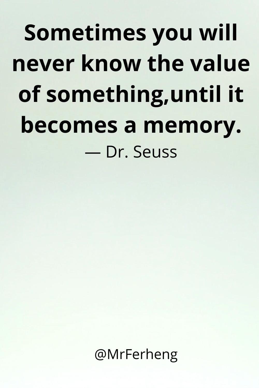 We miss memories
