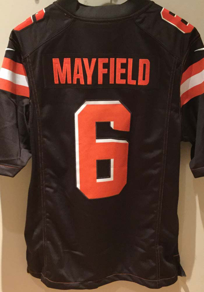 Baker Mayfield Nike Cleveland Browns Mens Brown 2019 Home