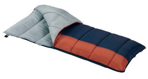 Wenzel Sunward 30 Degree Sleeping Bag Blue Orange 33 X 78