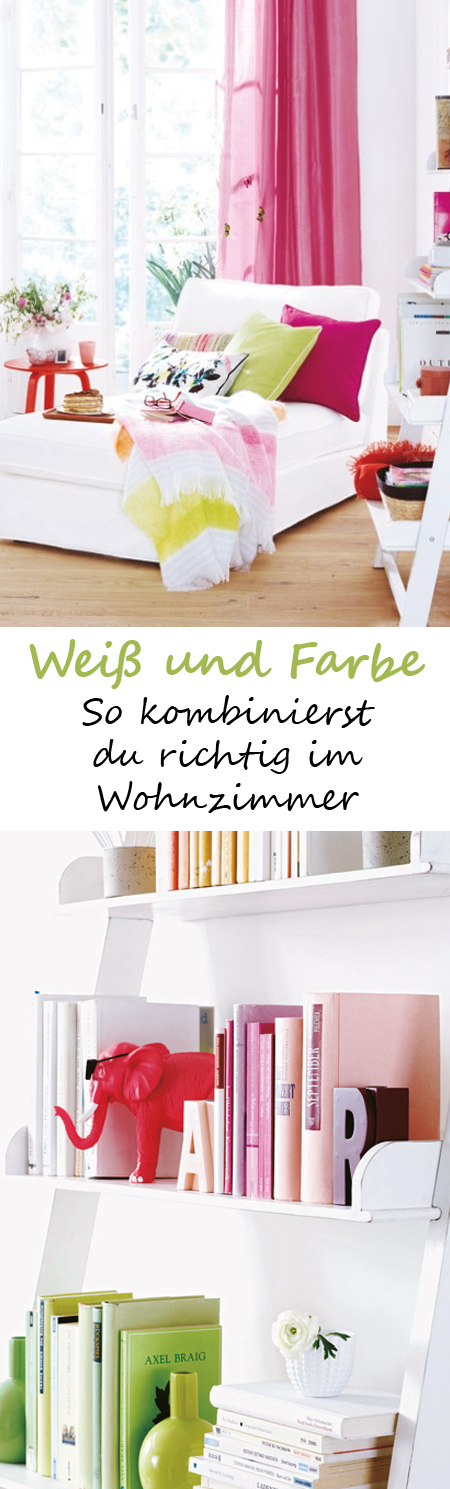 wei und farbe so kombinieren sie richtig wohnzimmer pinterest wohnzimmer wohnen und. Black Bedroom Furniture Sets. Home Design Ideas