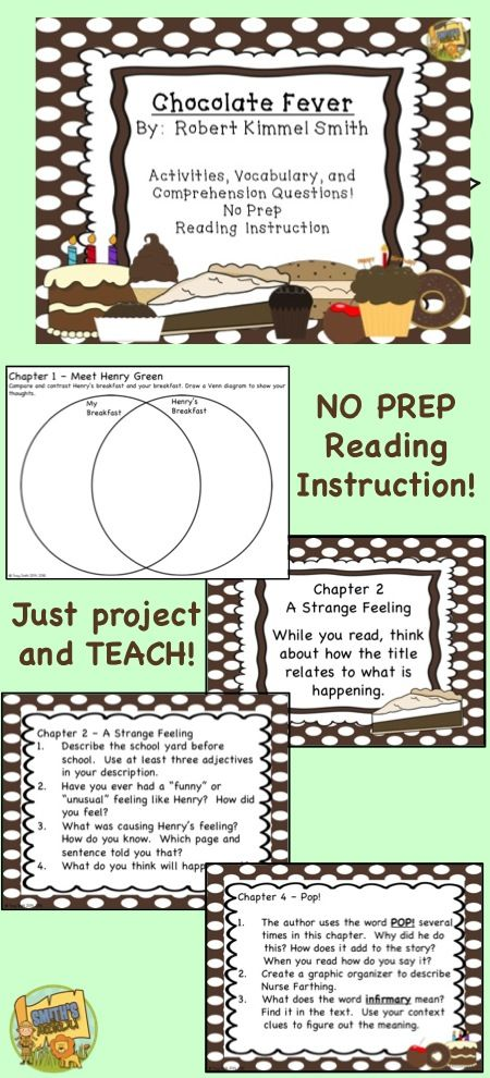 Chocolate Fever No Copies Reading Instruction