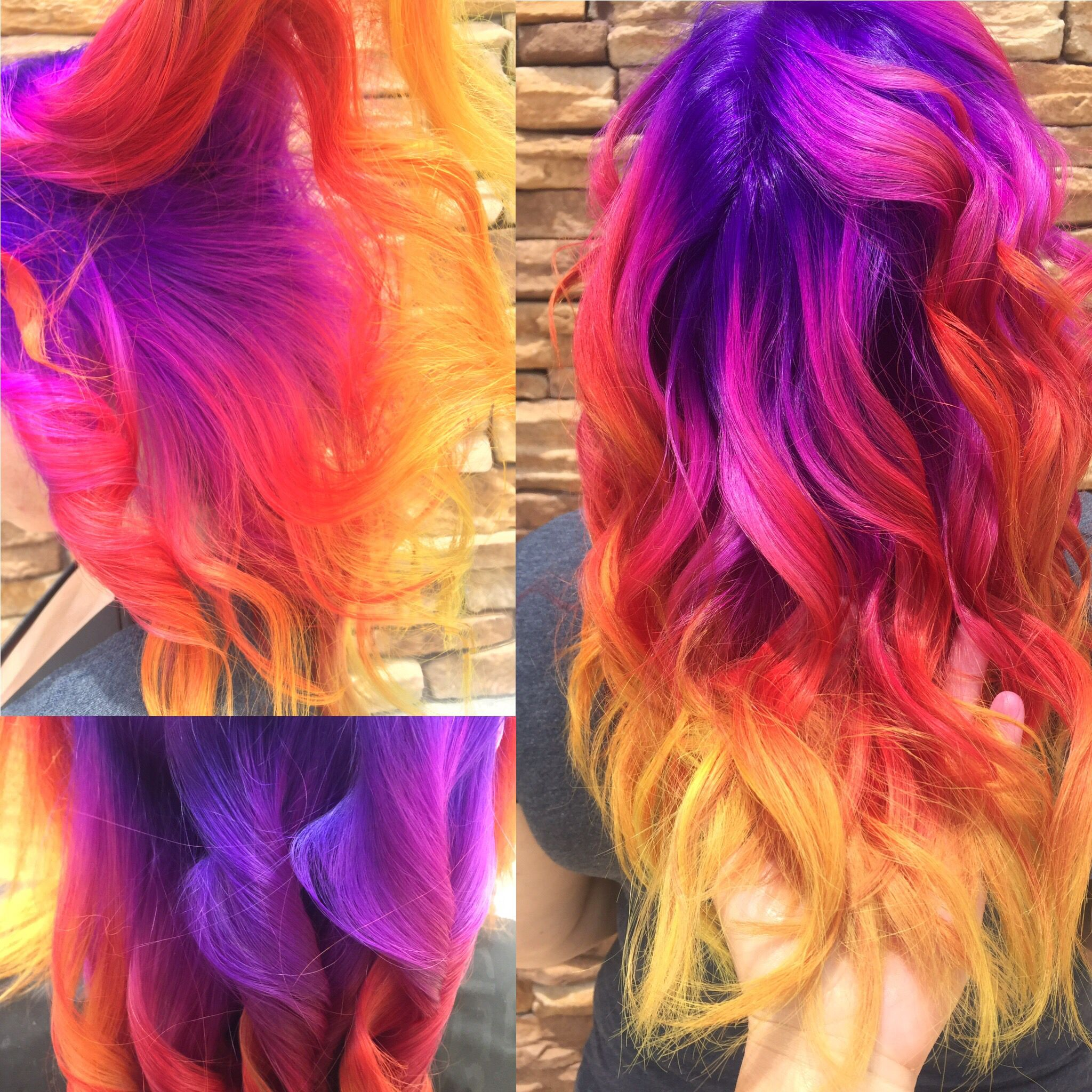 Rainbow Hair Purple Hair Yellow Hair Orange Hair Pink Hair Neon