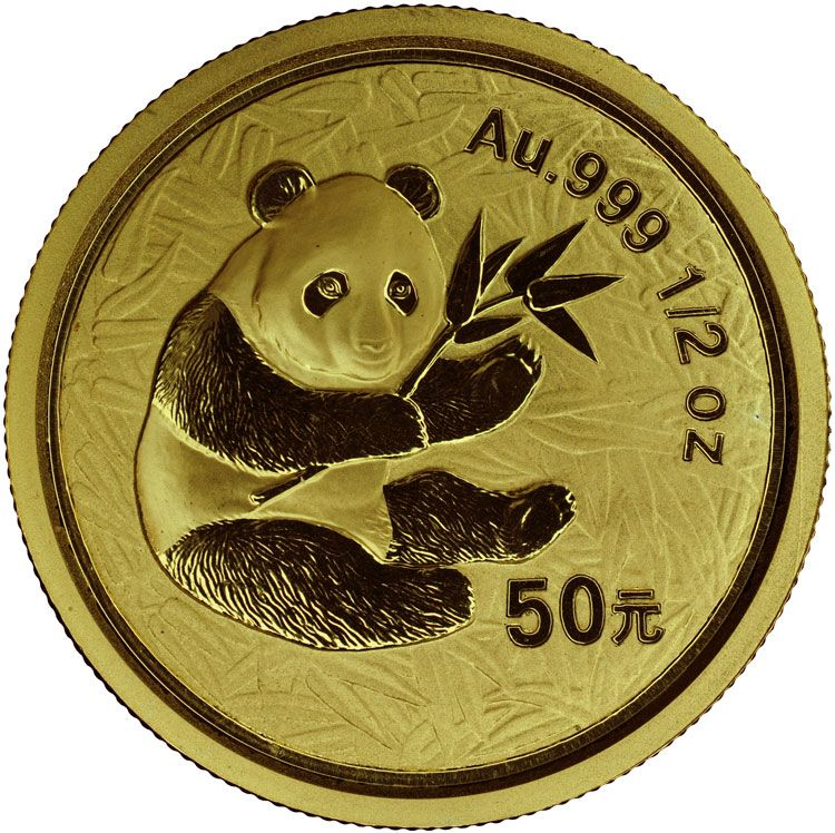 2000 Frosted Ring Gold Panda 50 Yuan Ms